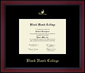 Black Hawk College Diploma Frame - Gold Embossed Achievement Edition Diploma Frame in Academy