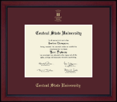 Central State University Diploma Frame - Gold Embossed Achievement Edition Diploma Frame in Academy