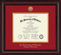 The University of Oklahoma Diploma Frame - Presidential Gold Engraved Diploma Frame in Premier