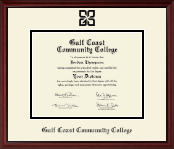 Gulf Coast Community College Diploma Frame - Black Embossed Diploma Frame in Camby