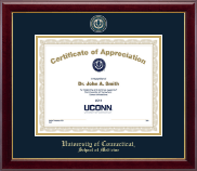 University of Connecticut School of Medicine Certificate Frame - Masterpiece Medallion Certificate Frame in Gallery