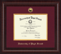 University of Puget Sound Diploma Frame - Presidential Gold Engraved Diploma Frame in Premier