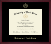 University of North Texas Diploma Frame - Gold Embossed Achievement Edition Diploma Frame in Academy