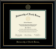 University of North Texas Diploma Frame - Gold Embossed Diploma Frame in Onyx Gold