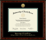 University of North Texas Diploma Frame - Gold Engraved Medallion Diploma Frame in Ridgewood