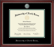 University of North Texas Diploma Frame - Pewter Masterpiece Medallion Diploma Frame in Kensington Silver