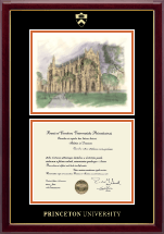 Princeton University Diploma Frame - Campus Scene Diploma Frame - Chapel in Gallery
