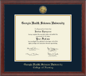 Georgia Health Sciences University Diploma Frame - Gold Engraved Diploma Frame in Signature