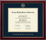 Georgia Health Sciences University Diploma Frame - Gold Embossed Diploma Frame in Gallery