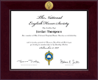 National English Honor Society Certificate Frame - Century Gold Engraved Certificate Frame in Cordova