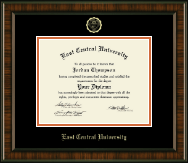 East Central University Diploma Frame - Gold Embossed Diploma Frame in Brentwood