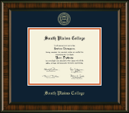 South Plains College Diploma Frame - Gold Embossed Diploma Frame in Brentwood