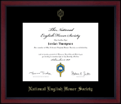 National English Honor Society Certificate Frame - Gold Embossed Academy Edition Certificate Frame in Academy