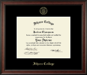 Ithaca College Diploma Frame - Gold Embossed Diploma Frame in Studio