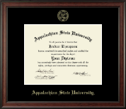 Appalachian State University Diploma Frame - Gold Embossed Diploma Frame in Studio