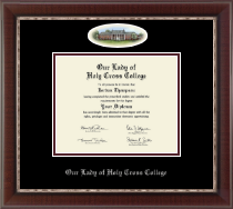 Our Lady of Holy Cross College Diploma Frame - Campus Cameo Diploma Frame in Chateau
