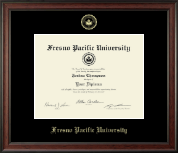 Fresno Pacific University Diploma Frame - Gold Embossed Diploma Frame in Studio