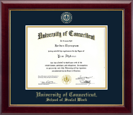 University of Connecticut School of Social Work Diploma Frame - Masterpiece Medallion Diploma Frame in Gallery