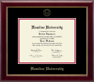 Hamline University Diploma Frame - Gold Embossed Diploma Frame in Gallery