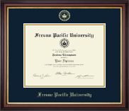 Fresno Pacific University Diploma Frame - Gold Embossed Diploma Frame in Regency Gold