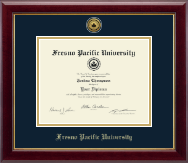 Fresno Pacific University Diploma Frame - Gold Engraved Medallion Diploma Frame in Gallery