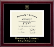 University of Arkansas Diploma Frame - Gold Embossed Diploma Frame in Gallery