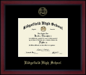 Ridgefield High School in Connecticut Diploma Frame - Gold Embossed Achievement Edition Diploma Frame in Academy