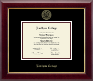 Earlham College Diploma Frame - Gold Embossed Diploma Frame in Gallery