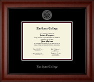 Earlham College Diploma Frame - Silver Embossed Diploma Frame in Cambridge