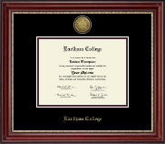 Earlham College Diploma Frame - Gold Engraved Medallion Diploma Frame in Kensington Gold