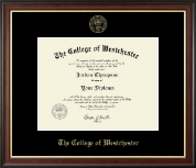 The College of Westchester Diploma Frame - Gold Embossed Diploma Frame in Studio Gold