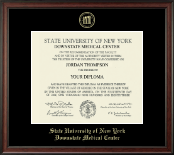 SUNY Downstate Medical Center Diploma Frame - Gold Embossed Diploma Frame in Studio