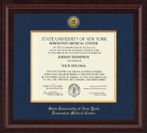 SUNY Downstate Medical Center Diploma Frame - Presidential Gold Engraved Diploma Frame in Premier