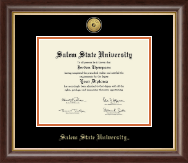 Salem State University Diploma Frame - Gold Engraved Medallion Diploma Frame in Hampshire