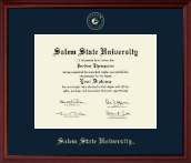 Salem State University Diploma Frame - Gold Embossed Diploma Frame in Camby