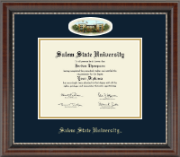 Salem State University Diploma Frame - Campus Cameo Diploma Frame in Chateau