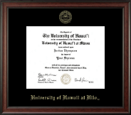 University of Hawaii at Hilo Diploma Frame - Gold Embossed Diploma Frame in Studio