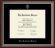 The Juilliard School Diploma Frame - Silver Embossed Diploma Frame in Devonshire