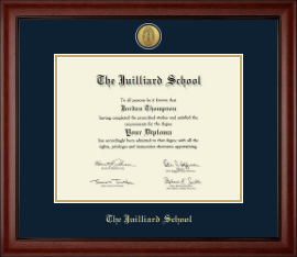 The Juilliard School Diploma Frame - Gold Engraved Medallion Diploma Frame in Cambridge