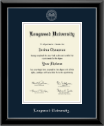 Longwood University Diploma Frame - Silver Embossed Diploma Frame in Onyx Silver
