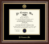 Pi Gamma Mu Honor Society Certificate Frame - Gold Engraved Medallion Certificate Frame in Hampshire