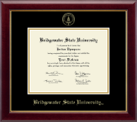 Bridgewater State University  Diploma Frame - Gold Embossed Diploma Frame in Gallery