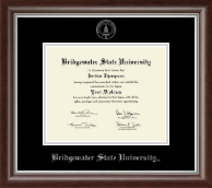 Bridgewater State University  Diploma Frame - Silver Embossed Diploma Frame in Devonshire
