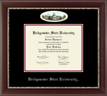 Bridgewater State University  Diploma Frame - Campus Cameo Diploma Frame in Chateau