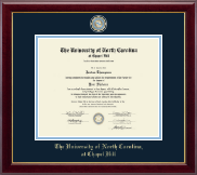 University of North Carolina Chapel Hill Diploma Frame - Masterpiece Medallion Diploma Frame in Gallery