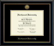Northwood University in Texas Diploma Frame - Gold Engraved Medallion Diploma Frame in Onyx Gold