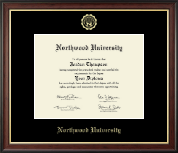 Northwood University in Texas Diploma Frame - Gold Embossed Diploma Frame in Studio Gold