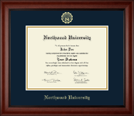 Northwood University in Florida Diploma Frame - Gold Embossed Diploma Frame in Cambridge