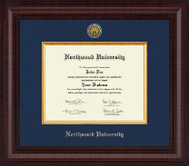 Northwood University in Florida Diploma Frame - Presidential Gold Engraved Diploma Frame in Premier