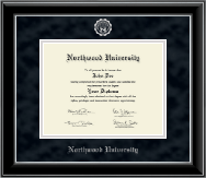 Northwood University in Florida Diploma Frame - Silver Embossed Diploma Frame in Onyx Silver